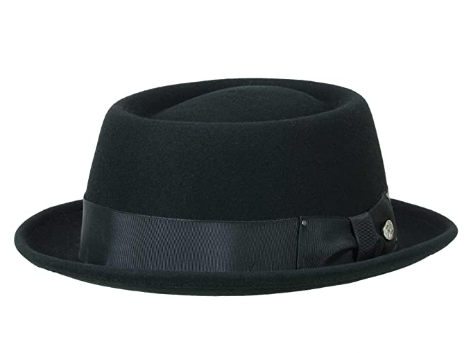 2956086f381 Bailey Men s Pork Pie Hat Darron - black  Amazon.co.uk  Clothing