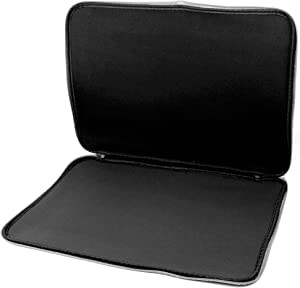 DURAGADGET Black Soft Generic Large Neoprene Protective Zip Case - Compatible with CUK MSI GT80S Titan Gaming Laptop Computer