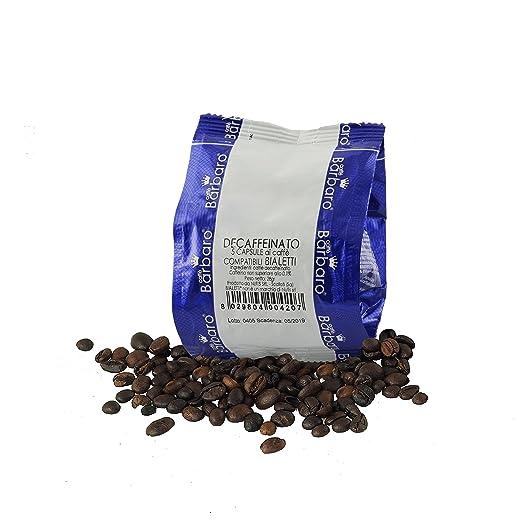 Cápsulas de Café, capsulas compatibles con bialetti, 100 cápsulas compatible con Bialetti descafeinado,