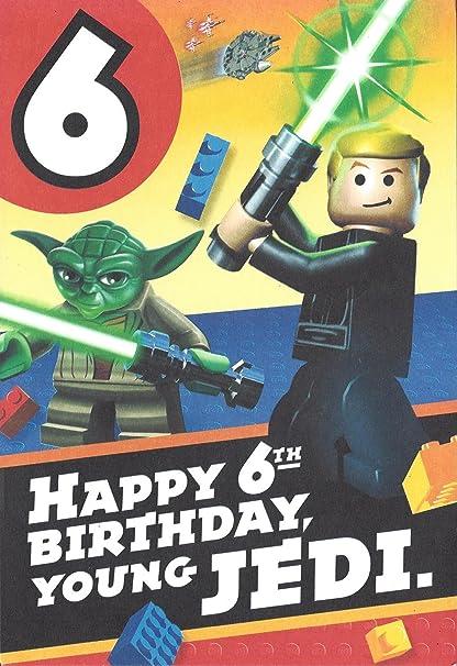 Amazon Lego Star Wars 6th Birthday Card W Stickers Toys Games