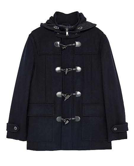 Zara Men Classic duffle coat 6593/352 at Amazon Men's Clothing store: