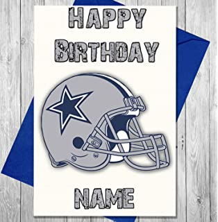 Amazon akgifts scunthorpe united birthday card joke funny akgifts american football dallas cowboys personalised birthday card any name and age printed on bookmarktalkfo Gallery