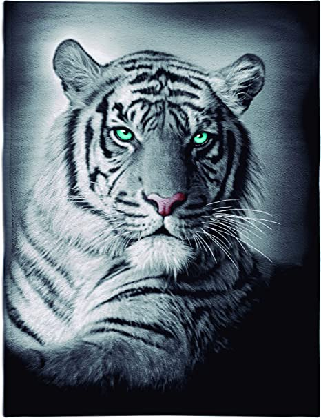 Textil Tarragó Tigre Toalla Estampada para Piscina Algodón, 32x45x3 cm