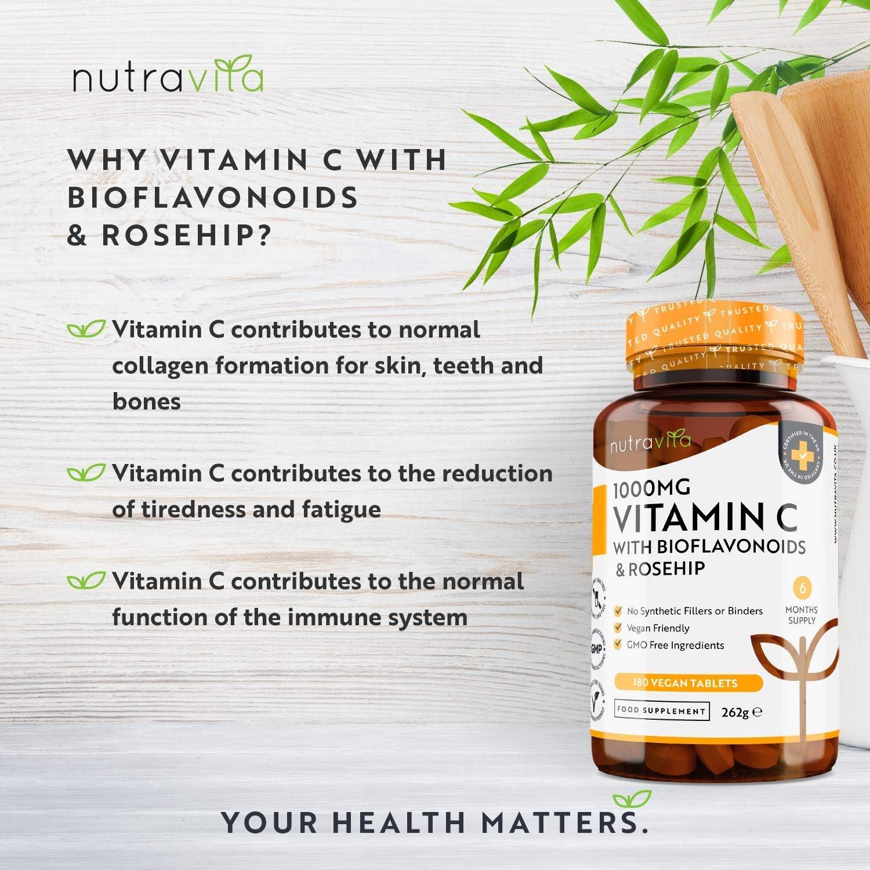 Vitamina C de 1000 mg con Bioflavonoides y Rosa Mosqueta comprar