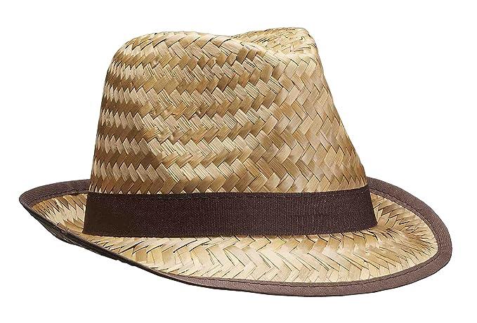 b4a19149a Amazon.com: Forum Novelties Men's Novelty Adult Straw Fedora Hat ...