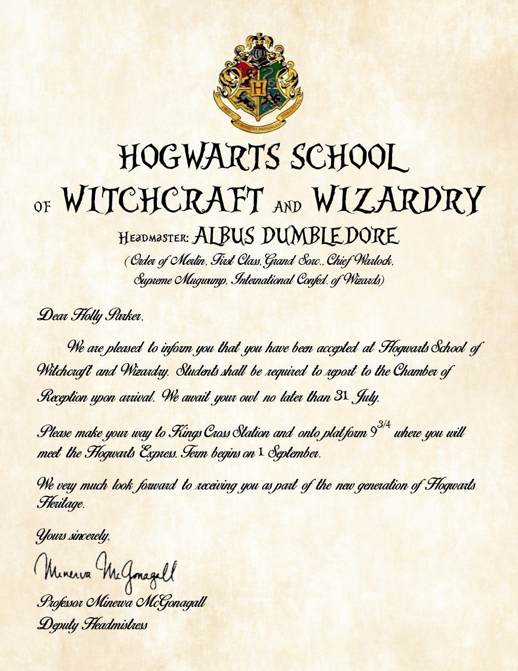 Amazon personalized harry potter acceptance letter hogwarts amazon personalized harry potter acceptance letter hogwarts school of witchcraft and wizardry handmade spiritdancerdesigns Gallery