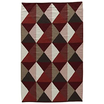 Amazon Com Jaipur Living Ritner Handmade Geometric Red Tan Area Rug