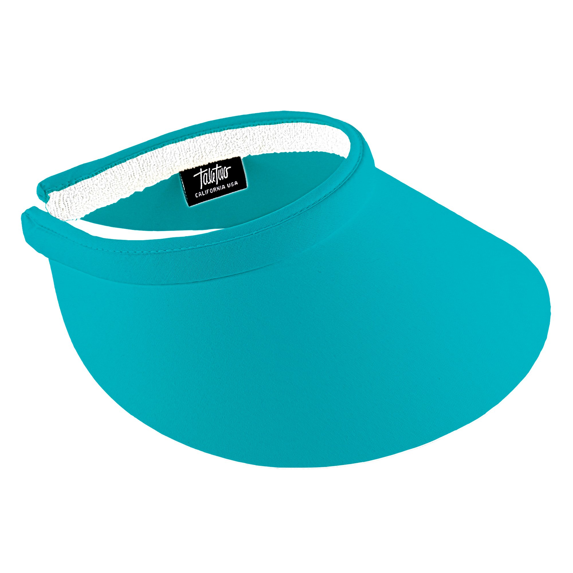 Take Two Women's Large Size Clip On Brim Visor (Turquoise)