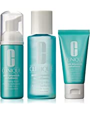 Clinique Anti-Blemish Solutions 3-Step System by Clinique for Unisex - 3 Pc Kit 1.7oz Cleansing Foam, 3.4oz Clarifying Lotion, 1oz All-Over Clearing Treatment Oil-Free, 3 count