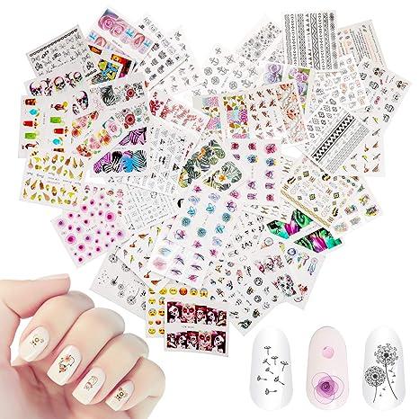 Amazon.com: AKWOX - Pegatinas para manicura de manicura con ...