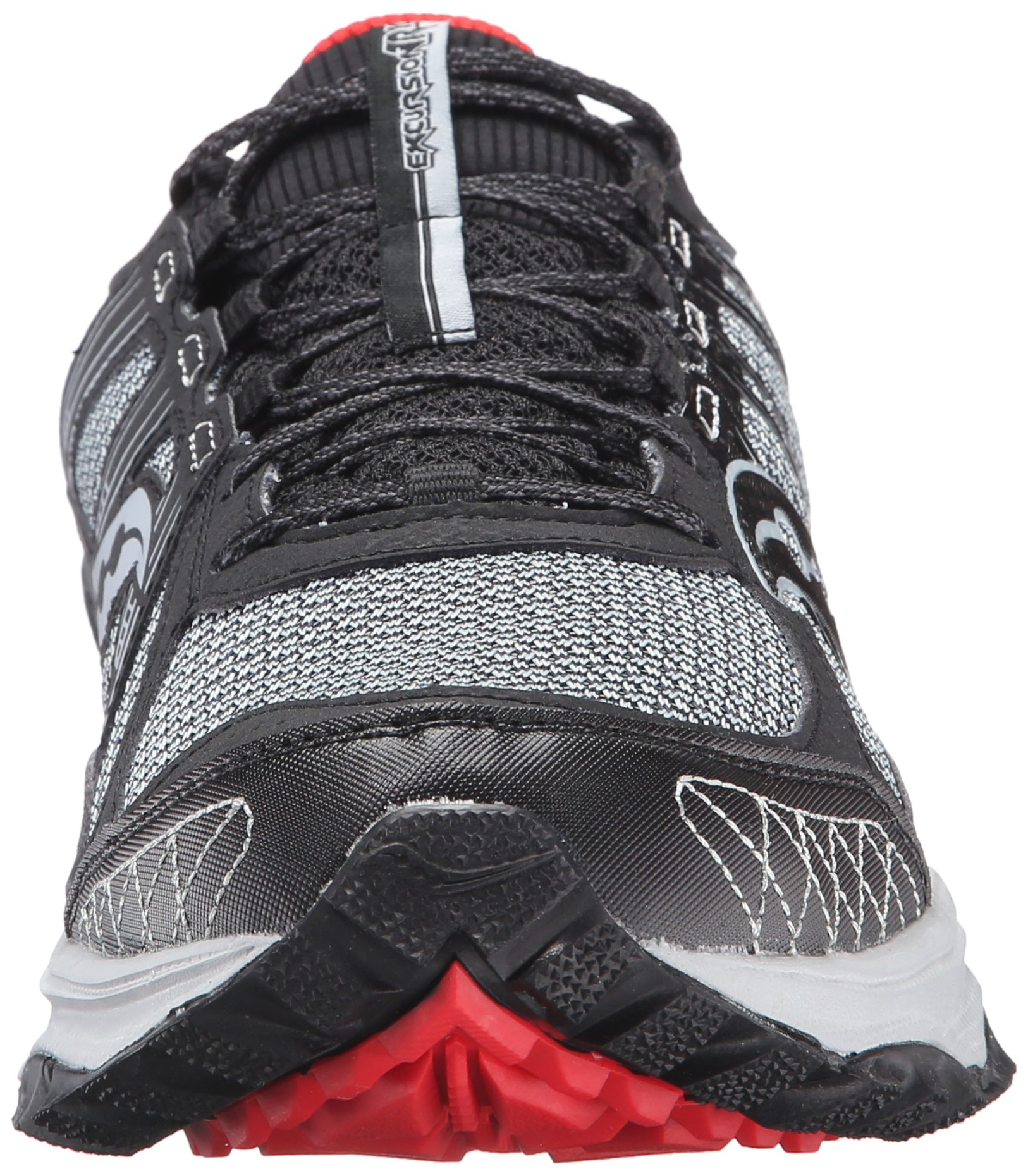 Saucony Men's Grid Excursion TR10 Running Shoe, Grey/Black/Red, 8 M US by Saucony (Image #4)