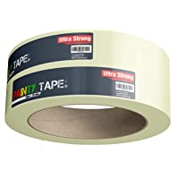 1x afplakband, afplakband, afplakband Painty Tape 50 meter * 38 mm voor nauwkeurig schilderen en schilderen