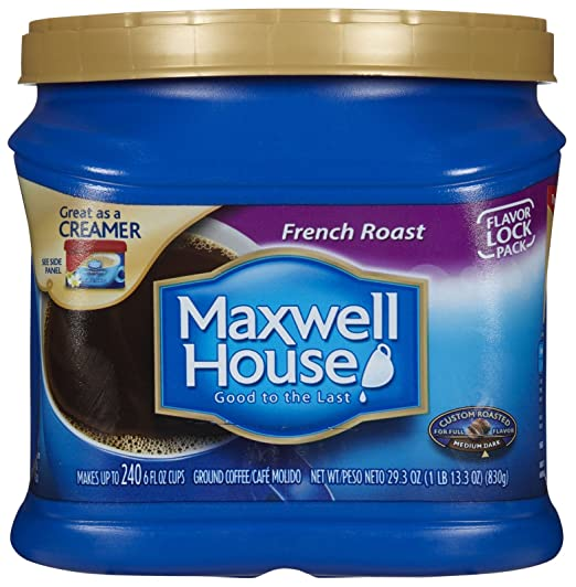 Amazon.com : Maxwell House French Roast Medium Dark Roast Ground Coffee : Coffee Substitutes : Grocery & Gourmet Food