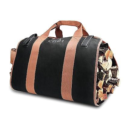 cehim estufa de leña bolsa de transporte bolsa de transporte lona resistente y duradera madera chimenea