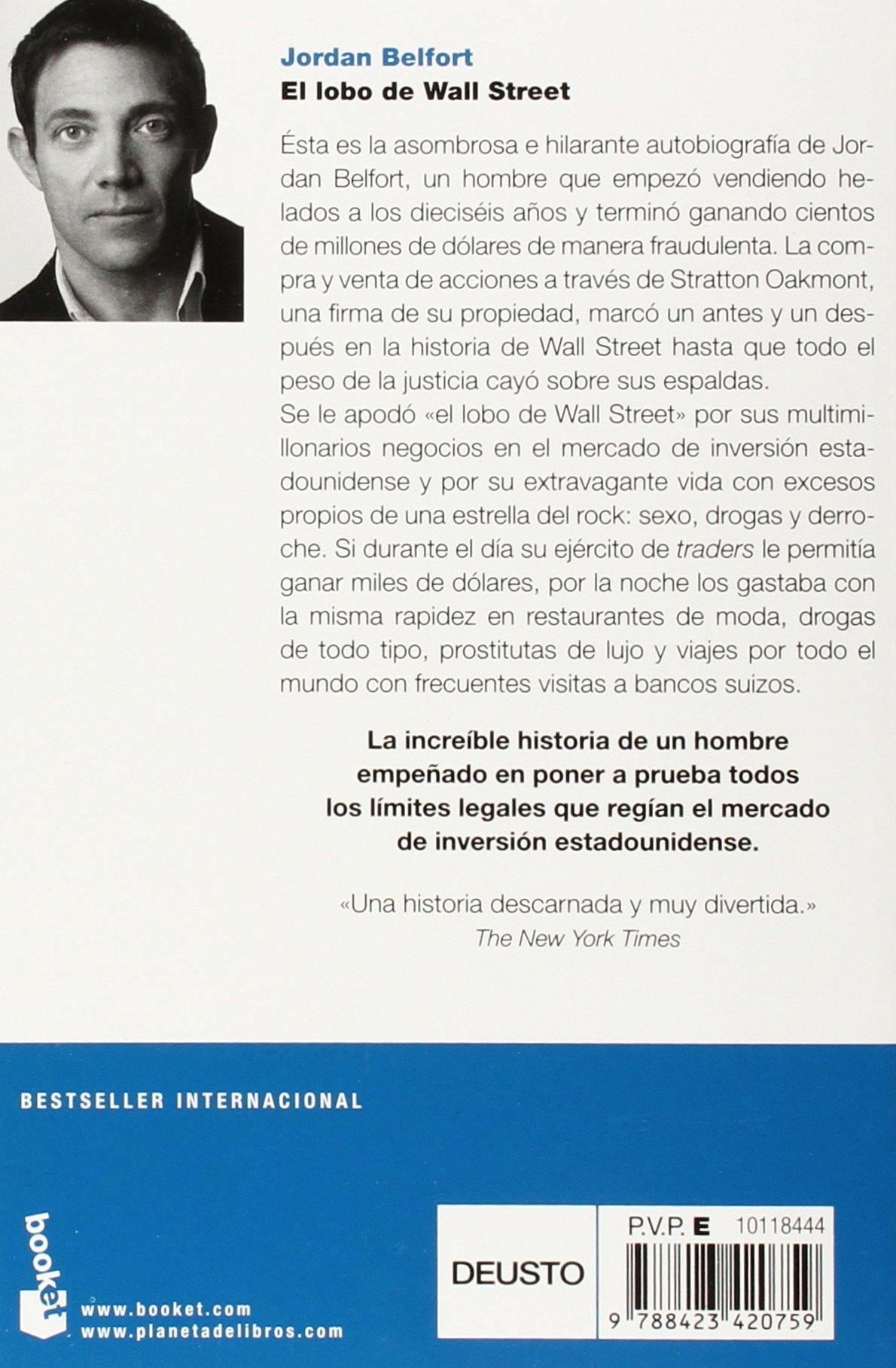 jordan belfort libro  El lobo de Wall Street: : Jordan Belfort: Libri in altre lingue