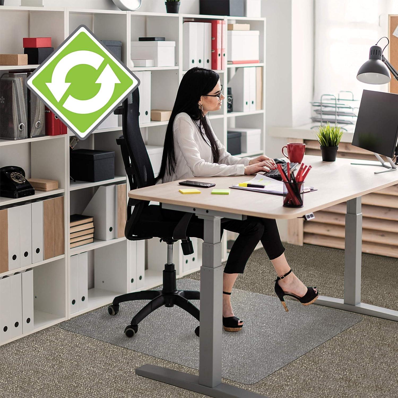"Floortex Recycled Enhanced Polymer Chair Mat 36"" x 48"" for Standard Pile Carpets"
