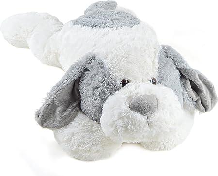 PINK PAPAYA ♥ perro de peluche Lucy - perro gigante XXL con pelo blanco y gris,CALIDAD♥ Perro de pel