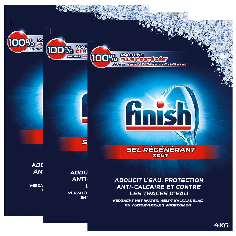 Finish - Sal regenerados para lavavajillas, 4 kg, 3 unidades ...