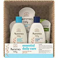 Aveeno Baby Essential Daily Care Baby & Mommy Gift Set Featuring a Variety of Skin Care and Bath Products to Nourish…