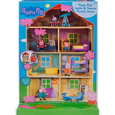 Peppa Pig's Lights & Sounds Family Home Feature Playset: Toys & Games