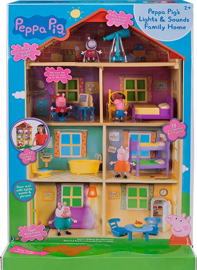 Buy Peppa Pig Lights And Sounds Playset Family Home Multi Color Online At Low Prices In India Amazon In