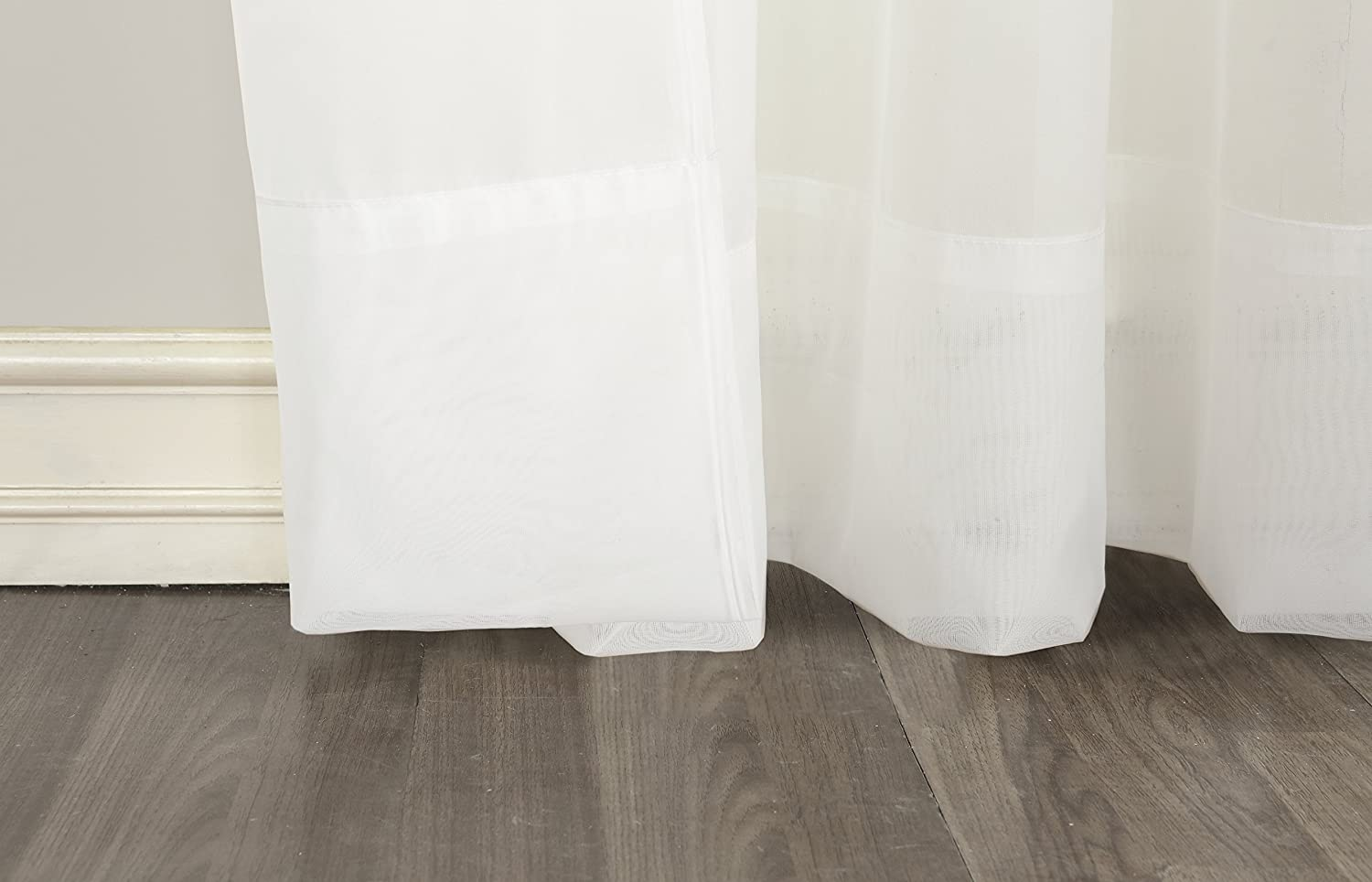 918 Emily Sheer Voile Grommet Curtain Panel No White 59 x 84