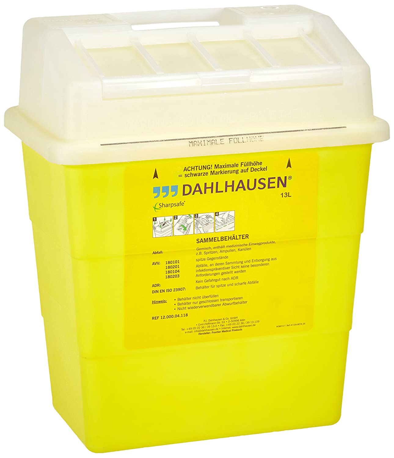 Neolab 3  2058  Sharpsafe Security Container Polypropylene Box Container 3-2058