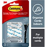 Command 4-packages of Cord Organizer, Decorate Damage-Free, Large (17303CLRES)