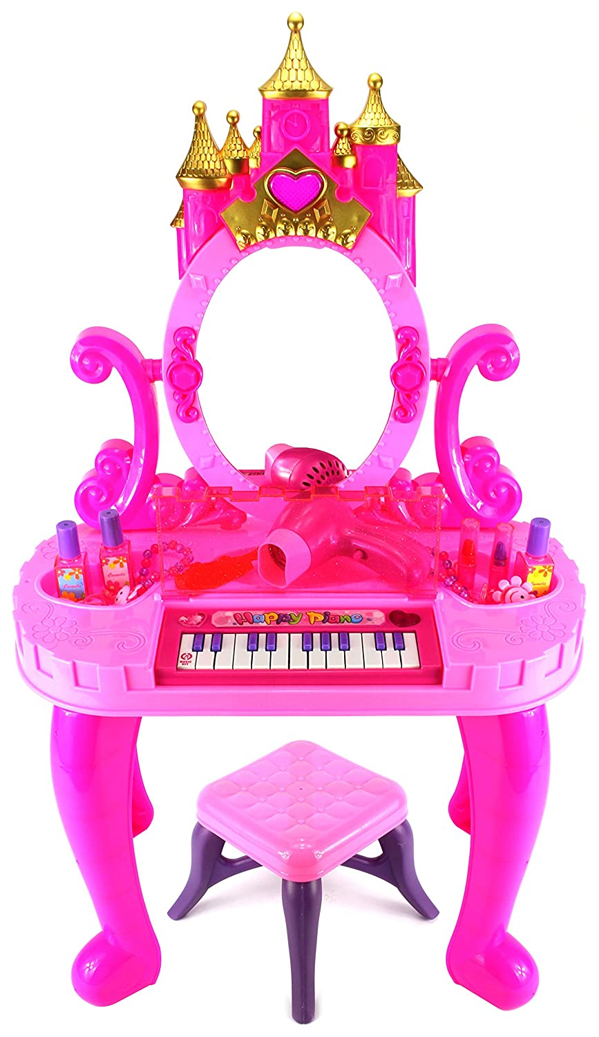Buy Sunshine Dressing Table Cum Piano With Stool   Music And Lights, Best  Toy For Girls Online At Low Prices In India   Amazon.in