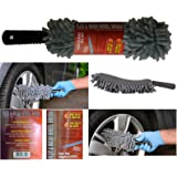 AUTO RAE-CHEM Microfibre Alloy Wheel Cleaning Brush With Flexible Shaft