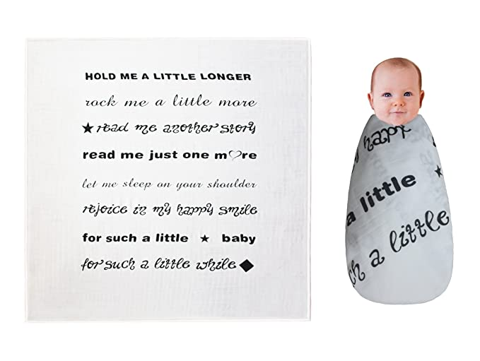 amazon com annlaite baby muslin swaddle blankets with quote