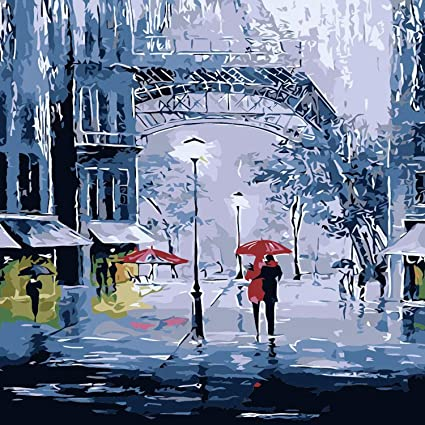 Painting by Numbers Art Theraputic Wall Decor Canvas Adults Picture London Girl