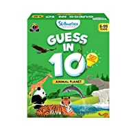 Skillmatics Guess in 10 : Animal Planet (Ages 6-99) | Card Game of Smart Questions | General Knowledge for Kids, Adults and Families | Gifts for Boys and Girls
