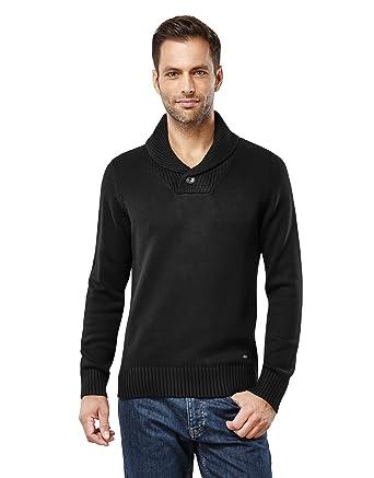 Vincenzo Boretti Men's Sweater Chunky Knit Shawl Collar