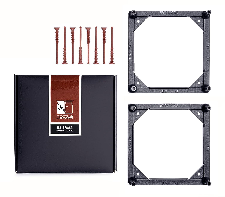 Noctua NA-SFMA1 140 to 120mm Fan mounting adaptors for watercooling radiators, Black