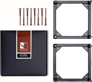 Noctua NA-SFMA1, 140 to 120mm Fan Mounting Adaptors for Watercooling Radiators (2 Pieces, Black)
