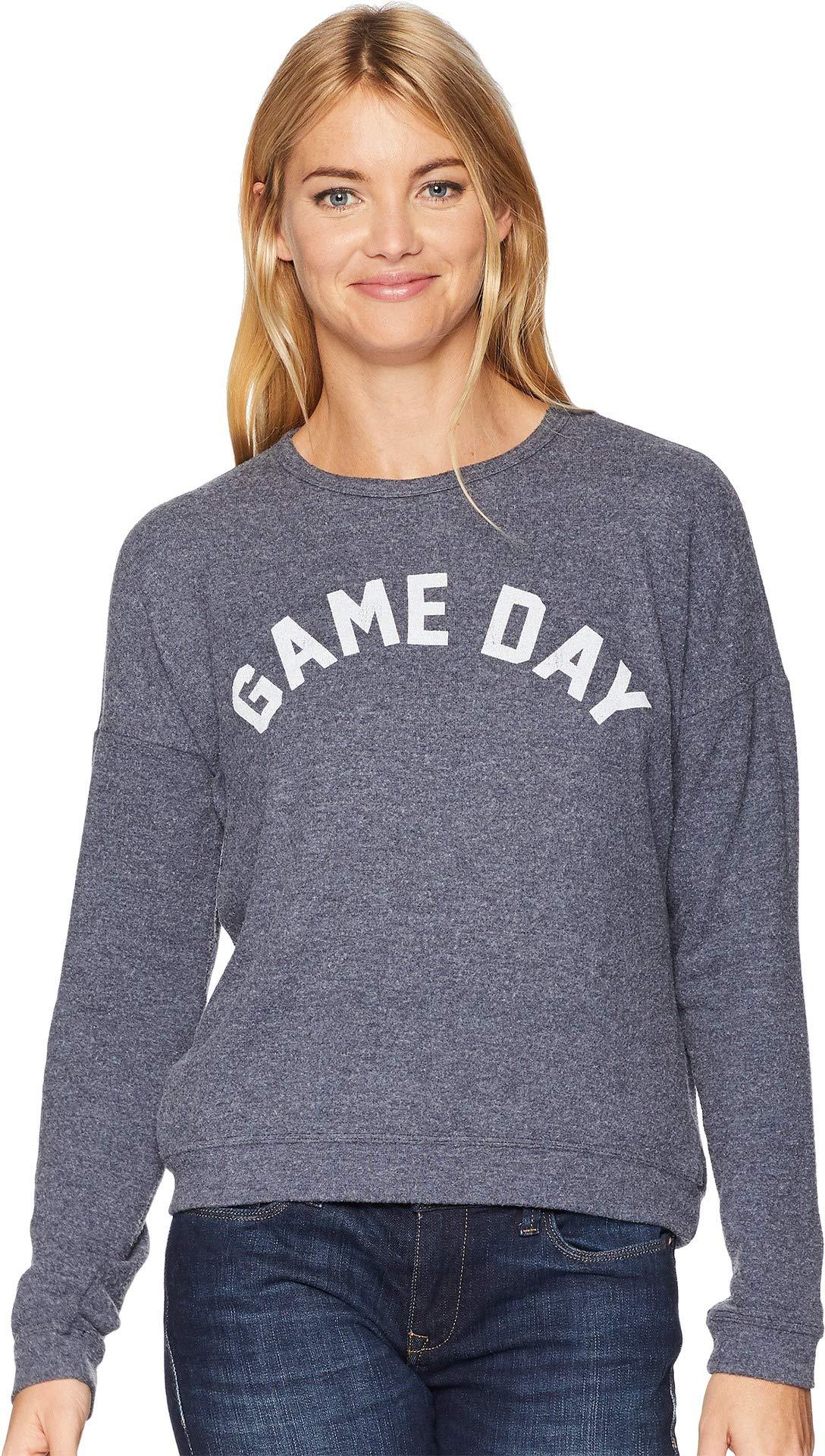 Original Retro Brand The Women's Game Day Super Soft Hacci Pullover Navy Haaci Large by Original Retro Brand (Image #1)