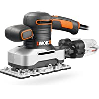 Worx WX642.1 Vlakschuurmachine - Elektrisch professioneel schuurgereedschap met 270W - Incl. schuurpapier & koffer…