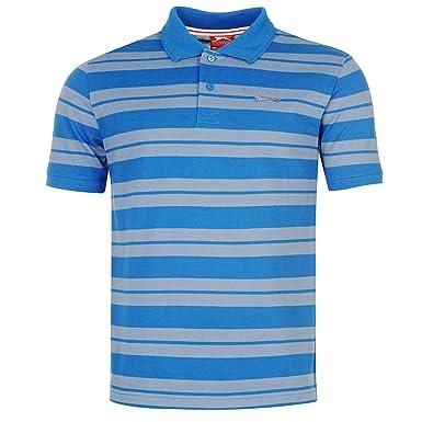 Slazenger Hombre Pique Yarn Dye Camisa Polo Azul 2 XXL: Amazon.es ...