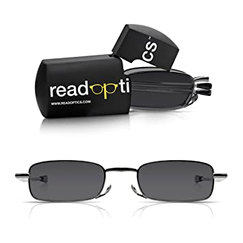 3ccaaf13949 Read Optics 2 Pack Reader Sunglasses  Mens Womens Folding Sun Reading  Glasses with 100
