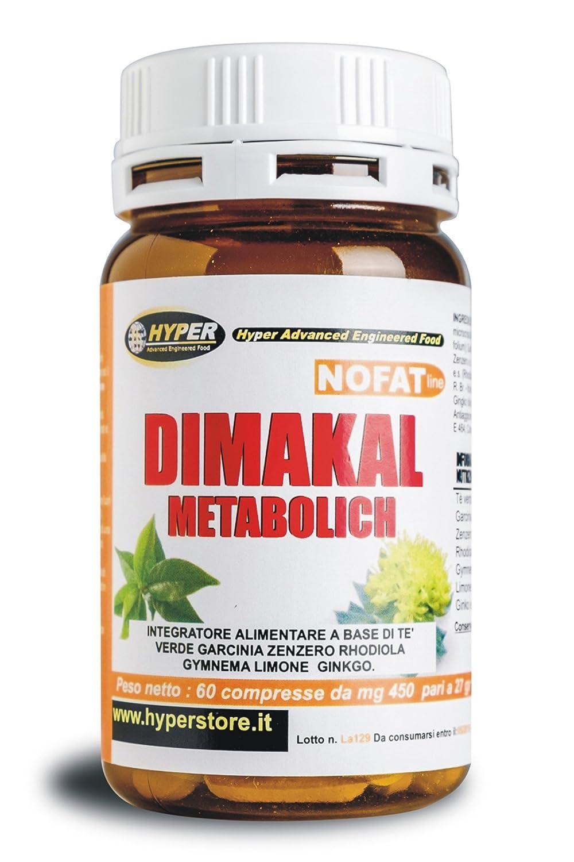 Adelgazar Bruciagrassi | Dimakal Metabolich 60 tabletas Con Garcina Cambogia, té verde, jengibre, Rhodiola, Ginko Suplementos para adelgazar Fat Burner ...