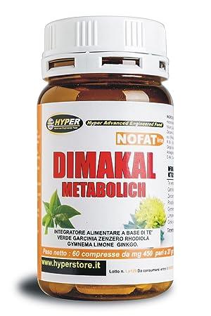 Adelgazar Bruciagrassi | Dimakal Metabolich 60 tabletas Con Garcina Cambogia, té verde, jengibre,