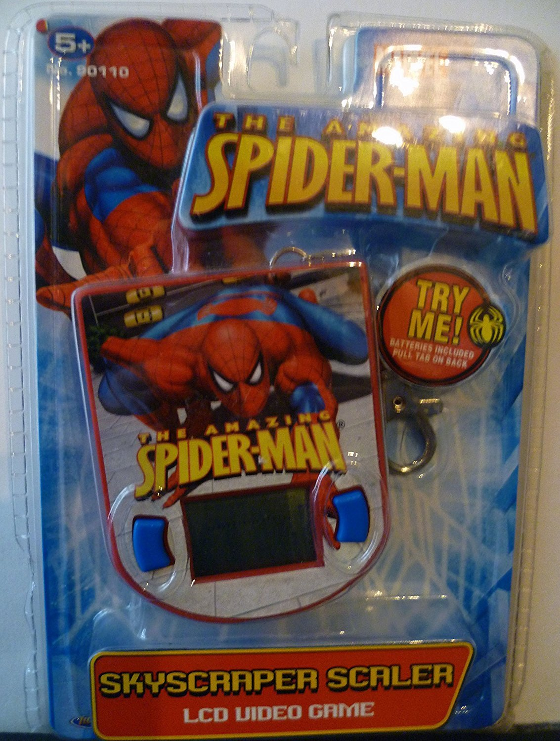 The Amazing Spiderman Skyscraper Scaler LCD Video Game Keychain by Marvel