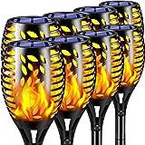TomCare Solar Lights Outdoor 8 Pack Flickering Flames Solar Torches Lights Outdoor Solar Landscape Landscape Decoration Light