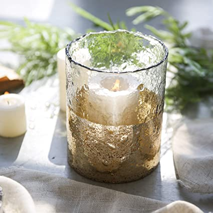 Amazon Cyl Home Hurricane Candleholders Hammered Clear Glass