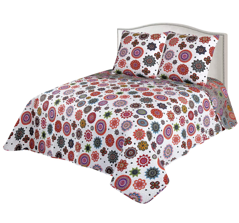 Colcha Boutí Mandalas Reversible+Cuadrantes 1704 (230x260+2 cuadrantes (para cama de