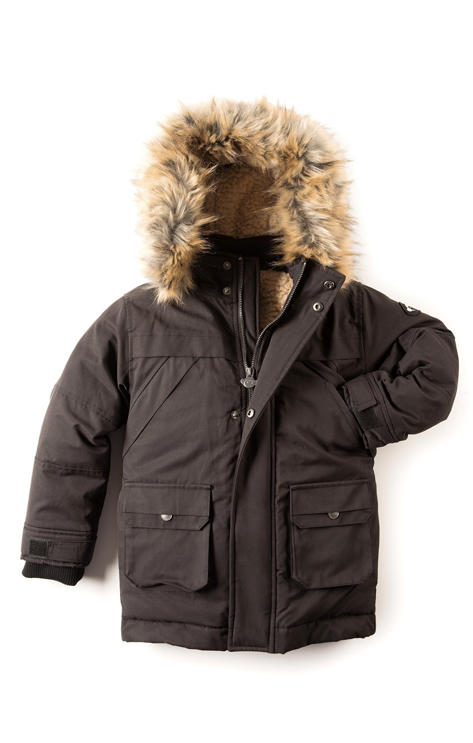 Appaman Little Boys' Denali Down Coat, Black, 6