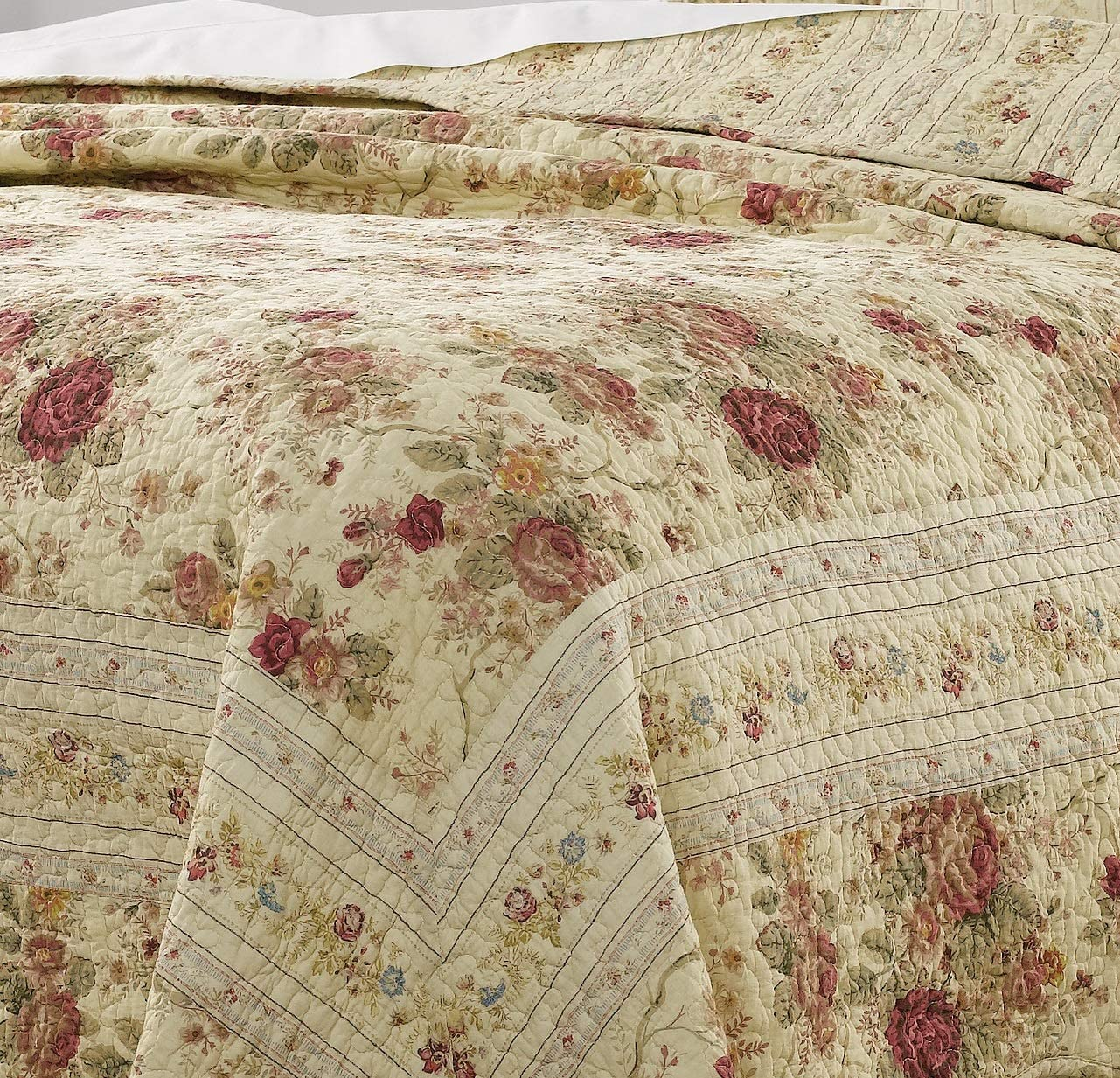 Greenland Home Antique Rose Twin Quilt Set