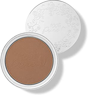 product image for 100% PURE Powder Foundation (Fruit Pigmented), Cocoa, Matte Finish, Absorbs Oil, Anti-Aging, Helps Fight Acne, Natural, Vegan Makeup (Deep Shade w/Neutral Undertones) - 0.32 Oz