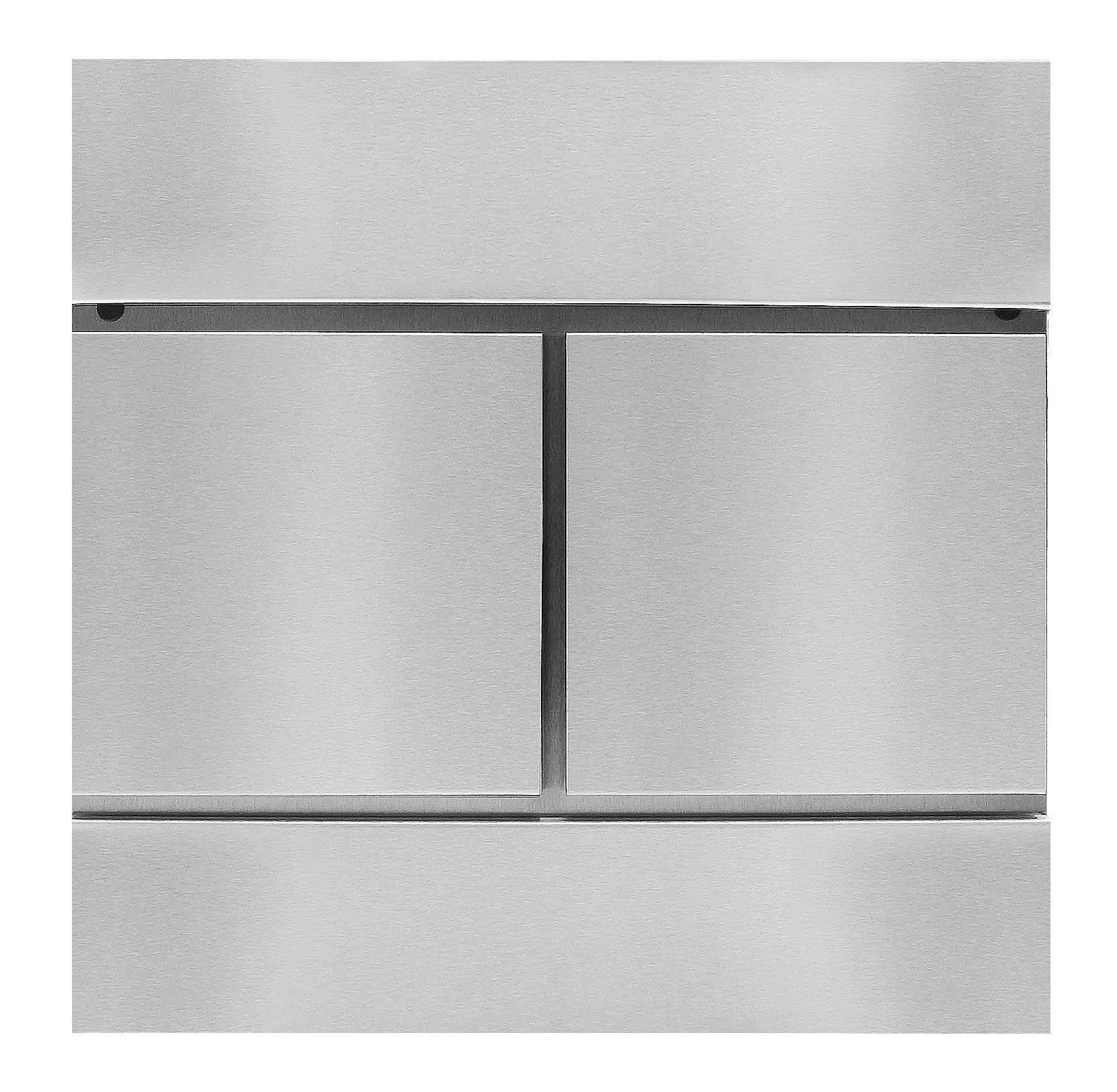 MPB932N AMOYLIMAI New Style Vertical Lockable Mailboxes Brushed Stainless Steel With Newspaper Holder Modern Urban Style - REAL STAINLESS STEEL 0.8MM THICK